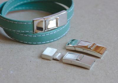Fermoir cliquet pour bracelet cuir