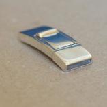 fermoir en argent 925 pour bracelet en cuir plat de 10x2mm.