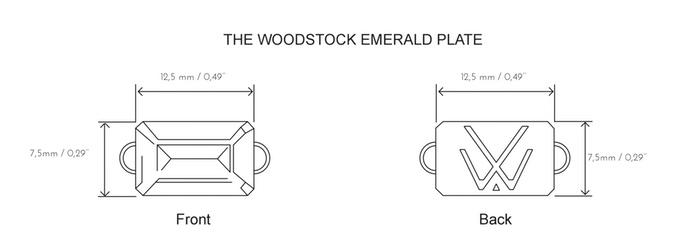 Dessin de plaquettes logo pour bijoux