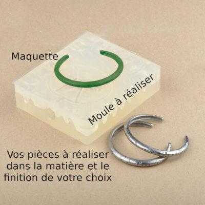 Reproduction de bracelet à partir de votre maquette ou prototype
